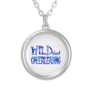 Wild About Cheerleading Silver Plated Necklace