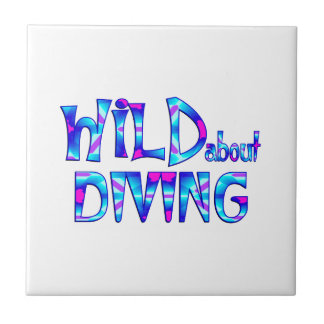 Wild About Diving Ceramic Tile