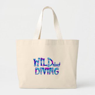 Wild About Diving Large Tote Bag