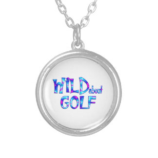 Wild About Golf Silver Plated Necklace