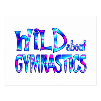 Wild About Gymnastics Postcard