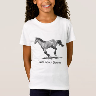 WILD ABOUT HORSES: PENCIL: ART: SHIRT
