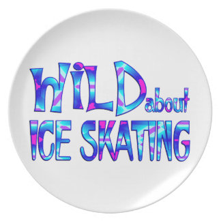 Wild About Ice Skating Plate