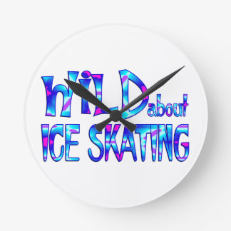 Wild About Ice Skating Round Clock