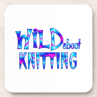 Wild About Knitting Coaster
