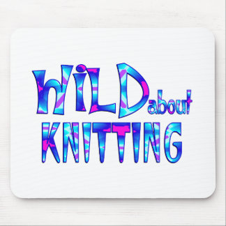 Wild About Knitting Mouse Pad