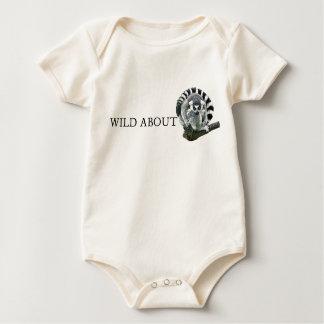 Wild About Lemurs Baby Bodysuit
