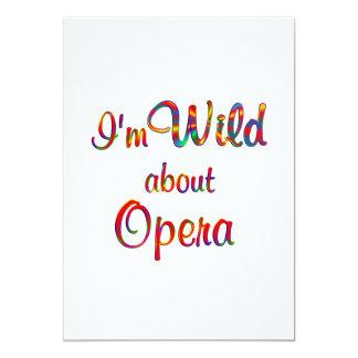 Wild About Opera Invitations