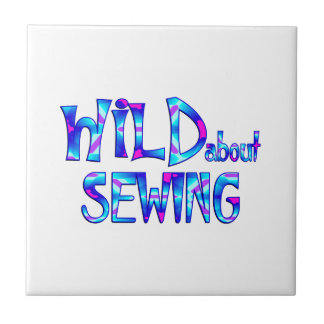 Wild About Sewing Ceramic Tile