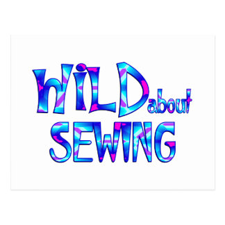 Wild About Sewing Postcard