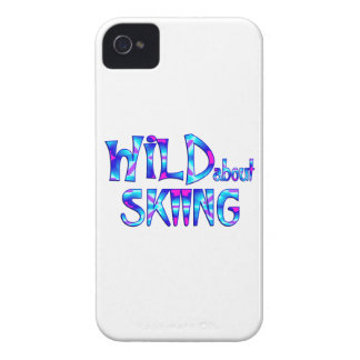 Wild About Skiing iPhone 4 Case-Mate Case