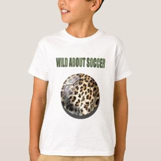 Wild about Soccer leopard soccer ball gifts T-Shirt