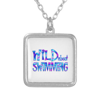 Wild About Swimming Silver Plated Necklace