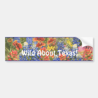 Wild About Texas! Bumper Sticker