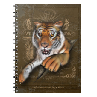 Wild About Tigers Illustration Note Books