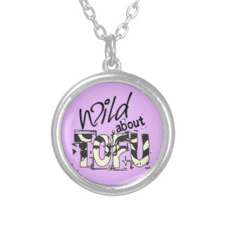 Wild about TOFU Funny Tofu themed Necklace