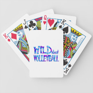 Wild About Volleyball Bicycle Playing Cards