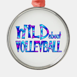 Wild About Volleyball Metal Ornament