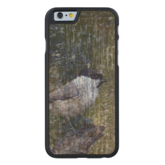 Wild  Abstract Chickadee Carved Maple iPhone 6 Case