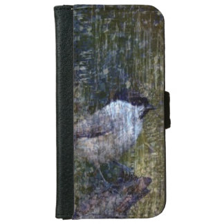 Wild  Abstract Chickadee iPhone 6 Wallet Case