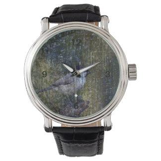 Wild  Abstract Chickadee Watch