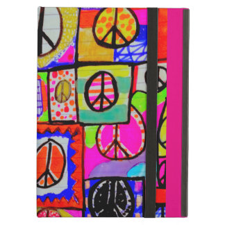 Wild and colorful peace sign art iPad case