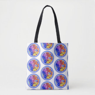 Wild and Crazy Acrylic Pour All Over Tote Two
