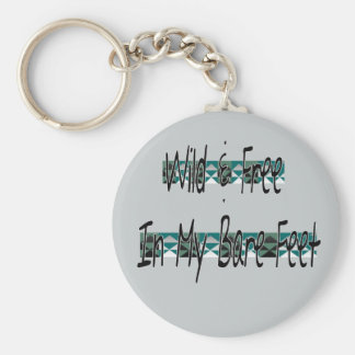 wild and free basic round button key ring