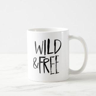 Wild and Free | Black Brush Script style Mug