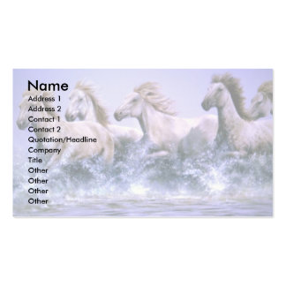 Wild and free, Camargue Horses Pack Of Standard Business Cards