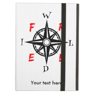 Wild And Free Compass Typography Cover For iPad Air
