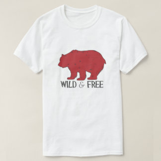 Wild and Free Grizzly bear T-Shirt