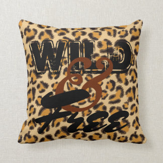 Wild and Free -Leopard Print Throw Pillow