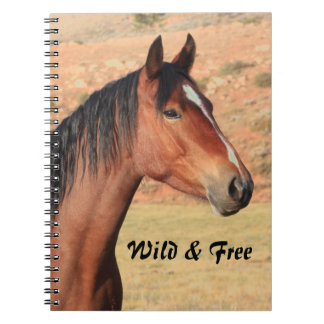 Wild and Free Mustang Notebook