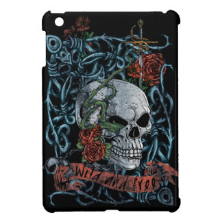 Wild and Free Rose Skeleton Skull Case For The iPad Mini