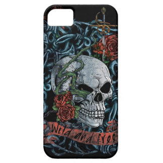 Wild and Free Rose Skeleton Skull Case For The iPhone 5