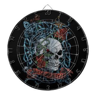 Wild and Free Rose Skeleton Skull Dart Board