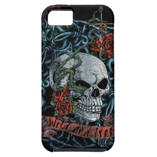 Wild and Free Rose Skeleton Skull iPhone 5 Cover