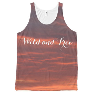 Wild and Free Sunrise Photo Unisex Vest All-Over Print Tank Top