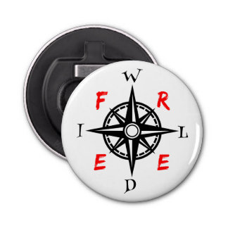 Wild And Free Traveller Compass Bottle Opener