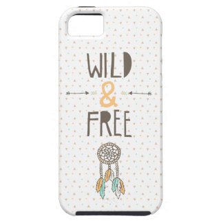 """Wild and Free"" Tribal Case For The iPhone 5"