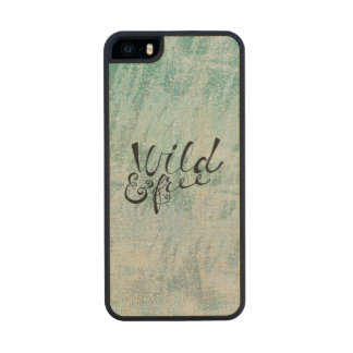 Wild and Free Wood iPhone SE/5/5s Case