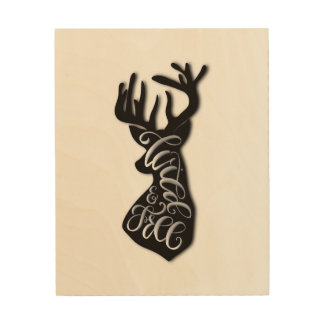 Wild and Free Wood Wall Decor