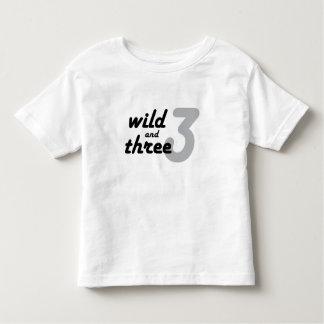 Wild and Three Toddler T-Shirt
