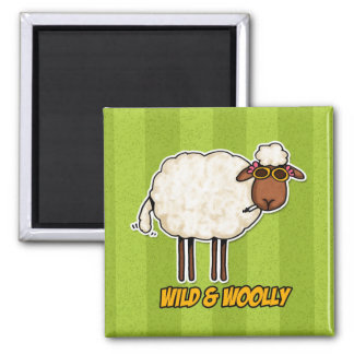 wild and woolly (smoking version) magnet