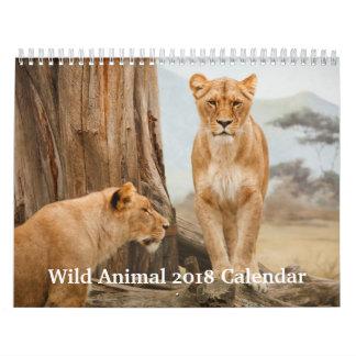 Wild Animal 2018 Wall Calendar