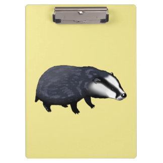wild animal baby badger clipboard