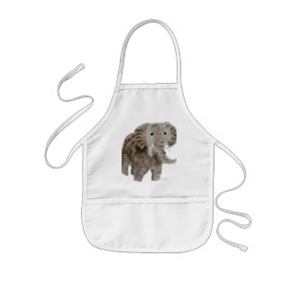 Wild Animal Elephant Art Kids Apron