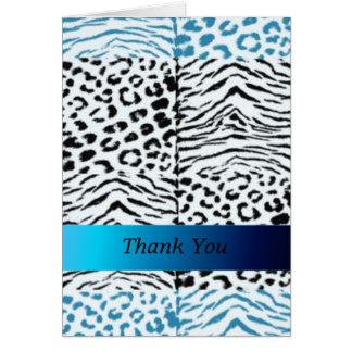 Wild Animal Fur Pattern Thank You Card