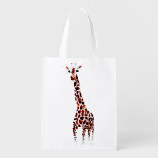 Wild Animal Giraffe Reusable Grocery Bag